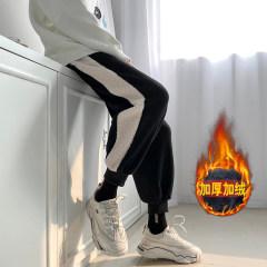 加绒加厚羊羔绒拼接休闲裤哈伦束脚裤长裤卫裤运动裤 1236/P55